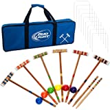 Bud Light Officially Licensed Croquet Set with Deluxe Carrying Case - Up to 6 Players!