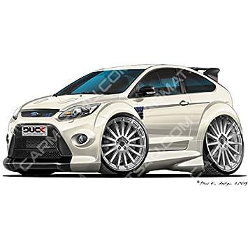 Ford Focus Rs Mk2 Vinyl Wand Kunst Aufkleber Weiß Weiß