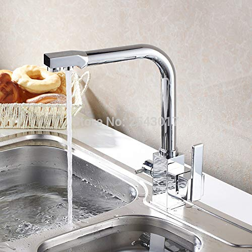 Hot Sale US Standard Drink Water Faucet Kitchen Swivel Hot and Cold Filter Water Faucet Luxury Chrome Finshed ZR646 by Tyrants Fauceting (Image #2)