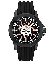 Harley-Davidson Men's Bulova Willie G. Skull Black Wrist Watch 78A115 by Harley-Davidson