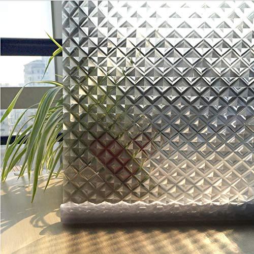 libby-nice Formato 45 * 200Cw Pellicola Anti-Pioggia Senza Colla 3D Statico Opaco Decorazione della Casa Finestra Adesivo Privacy