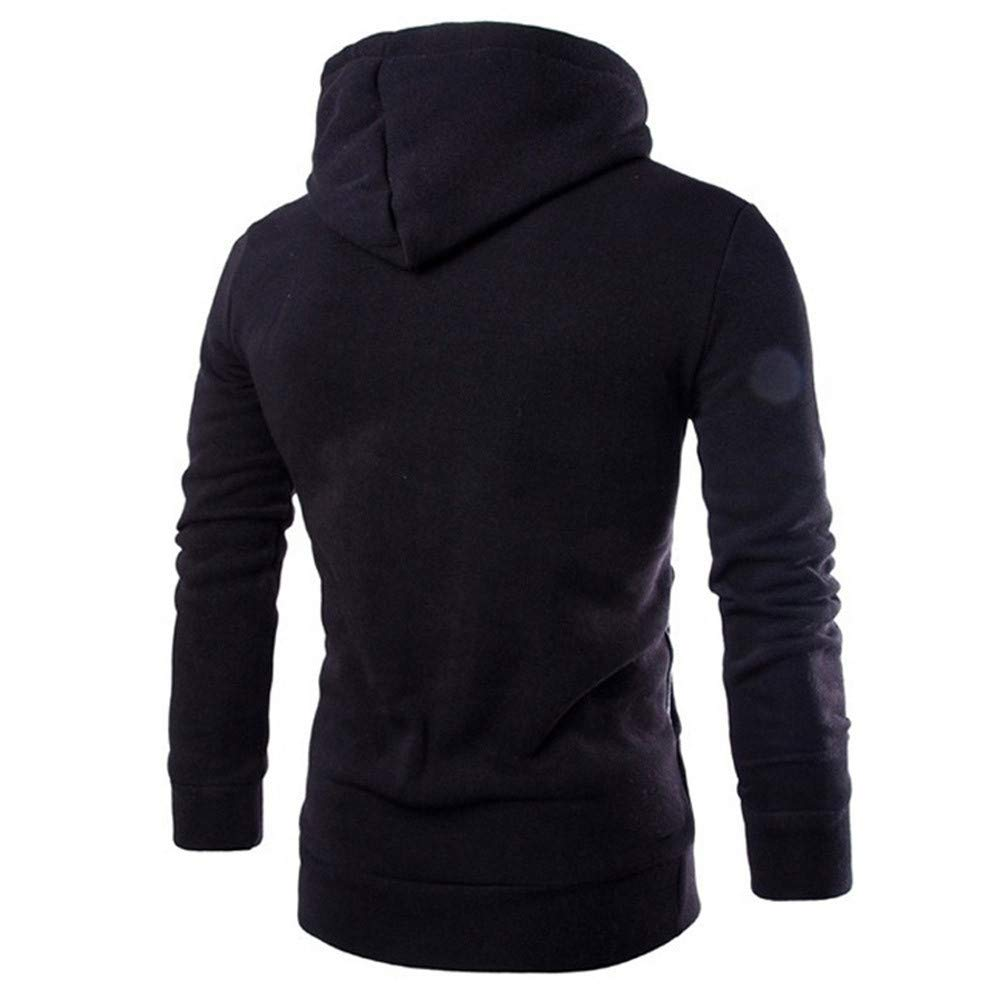 MASHAN Sweatshirt Men Hoodies Male Long Sleeve Patchwork Hoodie Zipper Hoodie Men White and Black Big Size,Navy Blue,XXL,China