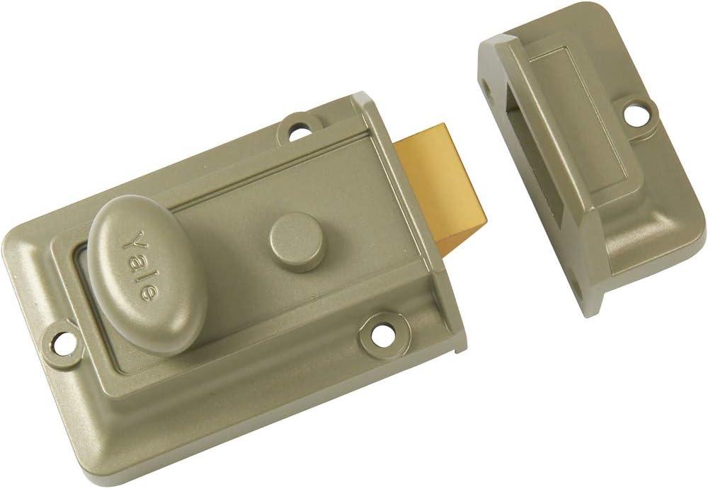 Yale B-77-ENB-PB-60 Importado de Reino Unido Caja de Bronce y n/íquel esmaltado, Cilindro de lat/ón Pulido Cerrojo de Seguridad