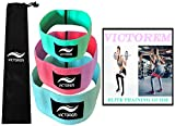 VICTOREM Booty Hip Bands – Cotton Fabric Resistance Fitness Loop – Exercise Legs & Butt – Workout & Activate Glutes & Thighs – Thick, Wide, Cloth Bootie Training & Lifting – Women's 80 Day Obsession Review