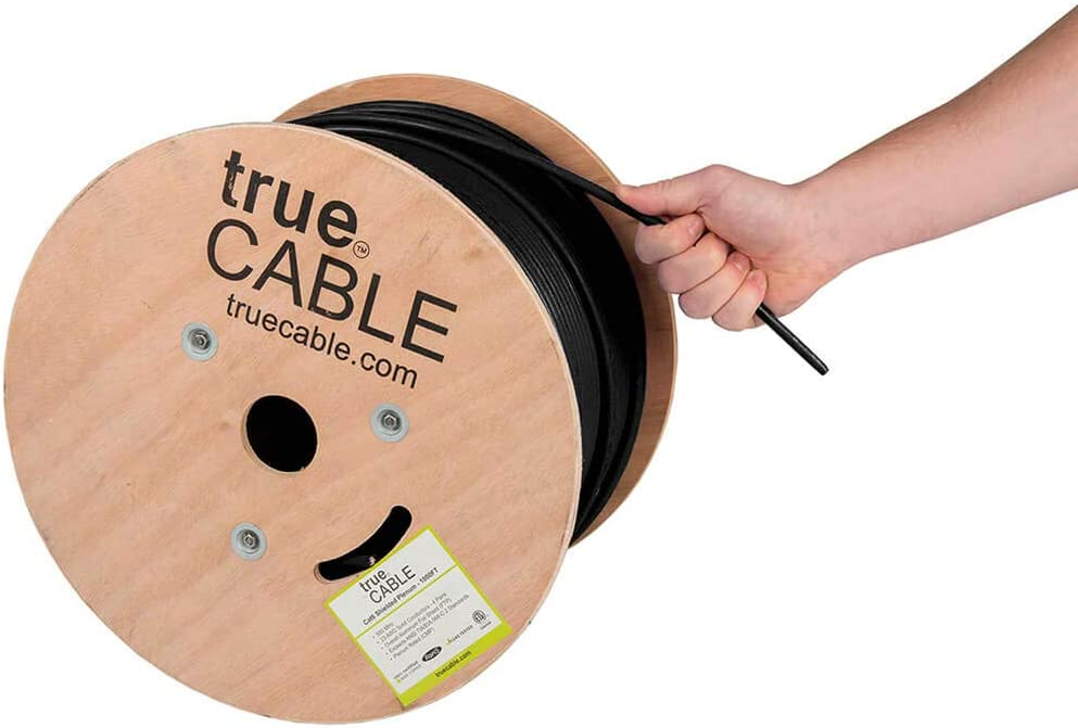 Solid Bare Copper Cat6 Plenum 1000FT Certified with QR Code for certificates 23AWG