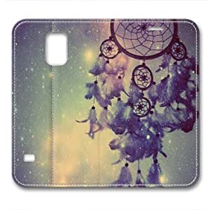 iCustomonline Leather Case for Samsung galaxy S5, Cute Background Stylish Durable Leather Case for Samsung galaxy S5