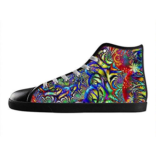 Custom Women's Fashion DIY Image Spiral Top Canvas Sneaker Shoes