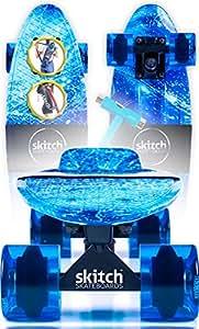 Blue Penny Board Skateboard For Boys - Complete Skateboards For Kids Beginners Teens Adults Men, Skitch 22 Inch Mini Cruiser Board Skateboard Backpack Skate Tool
