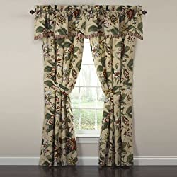 Waverly Laurel Springs Lined Window Valance,50-Inch Wide x 15-Inch Long (127 cm x 38 cm)