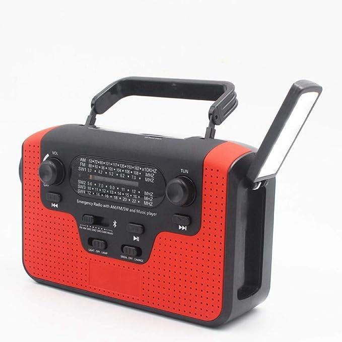 Alarma Tiempo Radio Multi-Banda Tiempo Radio Mano Solar AM/FM/SW1 ...