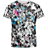 Best Old Glory Grunge Apparel Items - Grunge Triangle Pattern All Over Adult T-Shirt Review