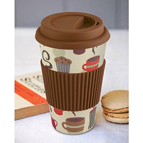 Freelance Bamboo Fibre Travel Mug – 2 Pieces, Brown, 400 ml Price & Reviews