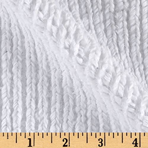 Shannon Minky Luxe Cuddle Chenille Snow White Fabric By The (Minky Line Fabric)