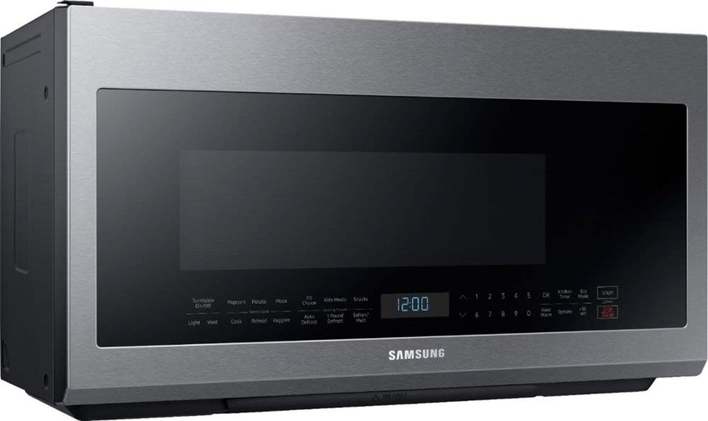 Samsung - 2.1 Cu. Ft. Over-the-Range Microwave - Fingerprint Resistant Stainless Steel by Lucarat