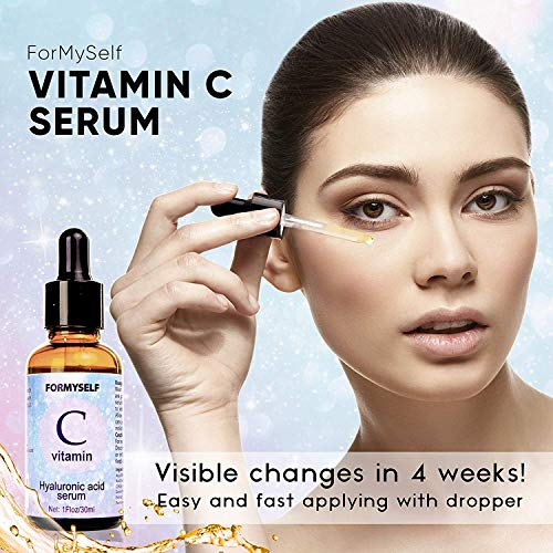51ikJu%2BGy0L - Vitamin C Serum For Face 20% with Hyaluronic Acid 1 Fl.Oz Vitamin E Natural Anti Aging & Wrinkle Retinol Facial Serum Sun Damage Corrector Remover for Face Dark Circles Under Eye Fine Lines Treatment