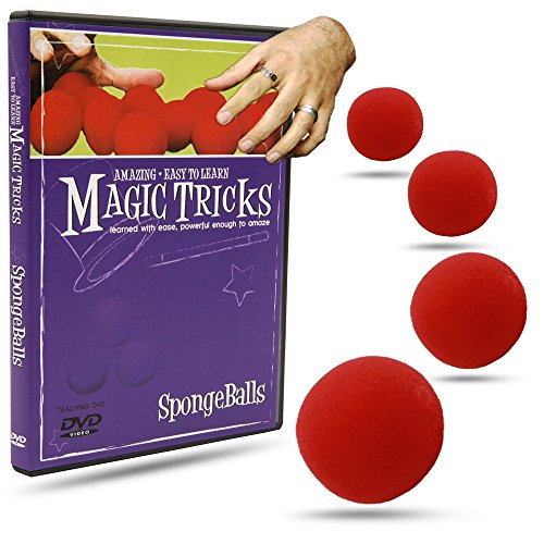 Balls Magic Trick - Magic Makers Magic Tricks You Can Master: SpongeBalls Combo - Instructional Magic Training - Pack of 4 Spongeballs Included