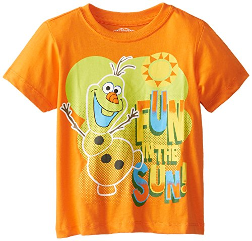 Disney Boys' Olaf Fun In The Sun Short Sleeve T-Shirt