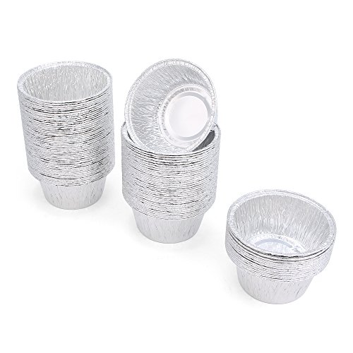 FredPack 100Pcs Aluminum Foil Ramekins Cupcake Liners Disposable Baking Cups Tin Foil Pans Cups (Pack Of 100) by fred life (Image #5)