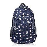 Vbiger Girl's & Boy's Backpack for Middle School Cute Bookbag Outdoor Daypack (Royalblue(bunny))