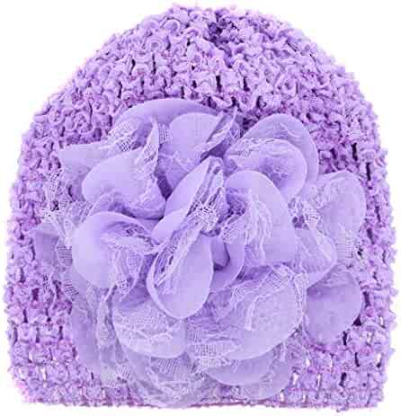 Yezijin Baby Girl Hollow Baby Children Elastic Hat Head Wrap Hijab Headband  Cap 616888972