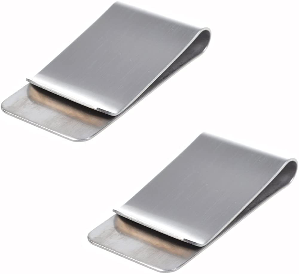 Stainless Steel Slim Money Clip & Credit Card Holder