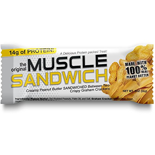 Costas Foods Muscle Sandwich Bars, Peanut Butter Cup, 2-ounce bars, 12-Count Box