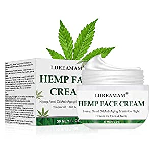 Hemp Cream, Face moisturizer Cream, Anti-Wrinkle And Fine Lines, Anti-Aging Hemp Oil Day Face And Neck Cream, Collagen…