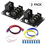 Heat Bed Power Module, TopDirect 3D Printer Hot Bed Power Expansion Board/Heatbed Power Module/MOS Tube High Current Load Module Replacement with Cables 2 Pack