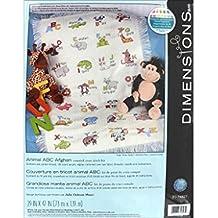 Dimensions DIM74827 Cross Stitch Animal ABC Afghan