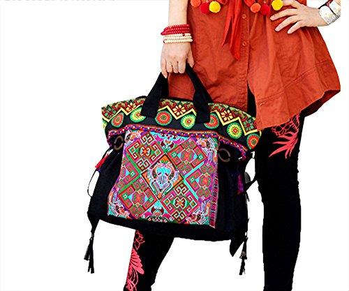 Exquisite Handtasche Schulter Durch Koerper getragene Erlesene Tasche 100% Handgemachte Kunstwerk # 119 - FREIE FRACHT