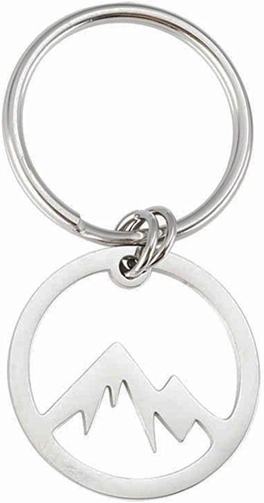 Jude Jewelers Stainless Steel Moutain Shape Keychain Pendant