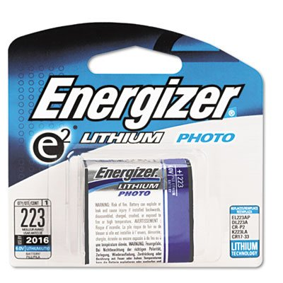 o Eveready Battery Co. Inc o - E2 Lithium Photo Battery, For Film Cameras, 6 Volt ()
