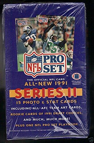 1991 ProSet Football Wax Pack Box series 2 Pro Set Brett Favre Rookie Card ()