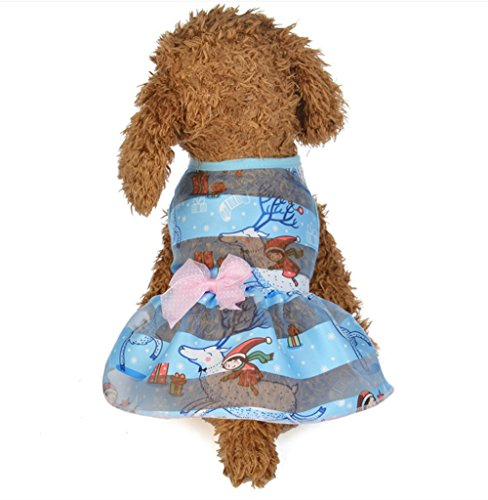 Comfortable Fashion Clothes M Blue Dress Elk Spring and Princess Summer Pet Wanyne Cute TqRHdnx0wq
