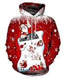 Neemanndy Unisex 3D Cool Space Print Hoodies Fashion Casual Hooded Sweaters, X-Large