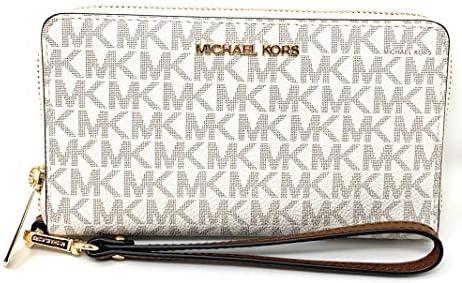 Michael Kors Women's Jet Set Travel Medium Zip Around Phone Holder Wallet