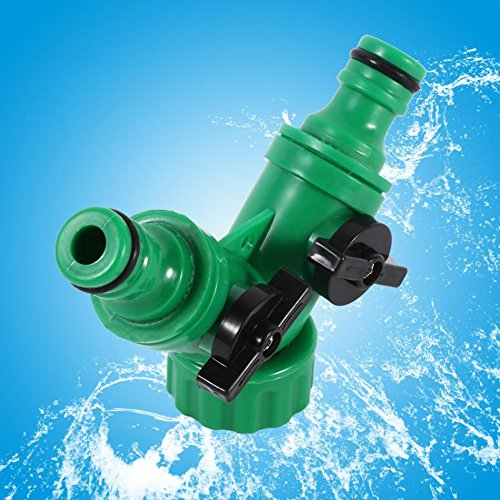 2-Way Tee Hose Pipe Splitter Adapter Y Connector Adaptor Switch Garden Watering Drip Irrigation 3/4'' Pipe Fitting
