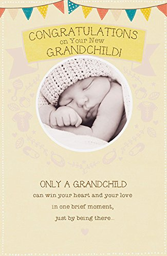 grandchild new baby boy birth grandson congratulations greeting card