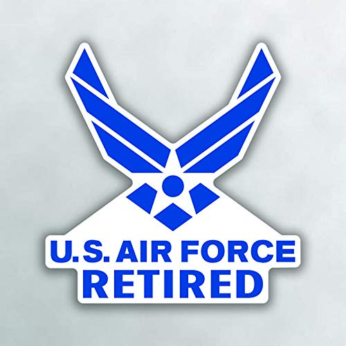 (More Shiz United States Air Force Retired Vinyl Decal Sticker - Car Truck Van SUV Window Wall Cup Laptop - One 5 Inch Decal - MKS1007)