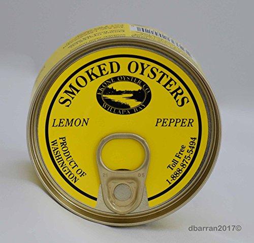 - EKONE OYSTER COMPANY Oysters Smkd Lemon Pepper, 3 OZ