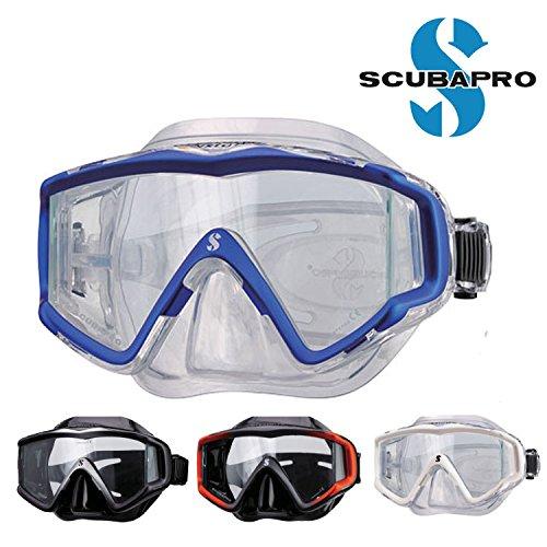ダイビング 軽器材 マスク SCUBAPRO スキューバプロ Sプロ Crystal Vu Mask B07D8LPMVH BK/SL  BK/SL