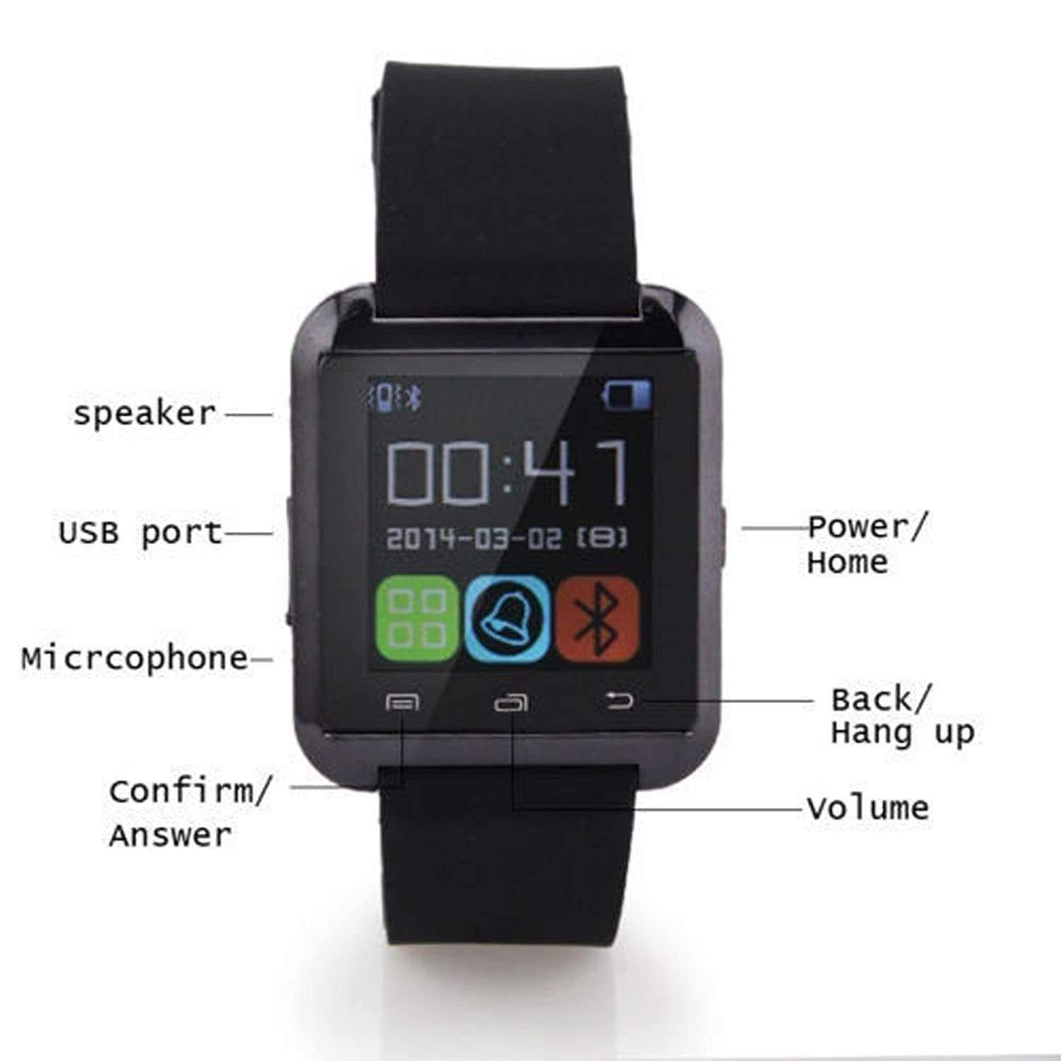 phones smart small dp watch amazon ca fitness mobile phone accessories blaze watches black cell fitbit silver