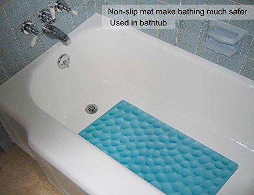 Non slip soft rubber bathtub mat othway bathroom bathmat with import it all for Non slip bathroom flooring for elderly
