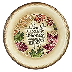 Grasslands Road Autumn Impressions, A Time And Season Pie Plate #470764 by Grasslands Road