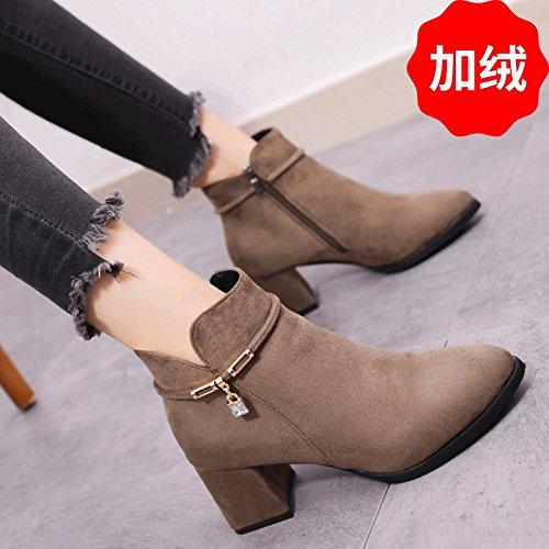 84467460719dd FLYRCX Automne hiver fashion retro percer Martin bottes et chaussures de  talon haut talon