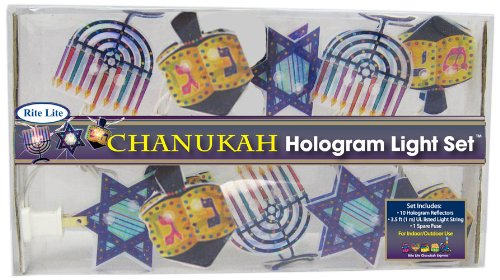 Rite -Lite Judaica Chanukah Hologram 10 light set