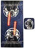 Jay Franco Star Wars Classic Super Soft & Absorbent Kids 2 Piece Bath Towel & Washcloth Set - Fade Resistant Cotto Terry Towel Set (Official Star Wars Product)