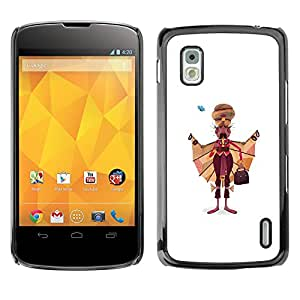 Shell-Star Arte & diseño plástico duro Fundas Cover Cubre Hard Case Cover para LG Google NEXUS 4 / Mako / E960 ( Sikhism Indian Man Moustache Art Painting )