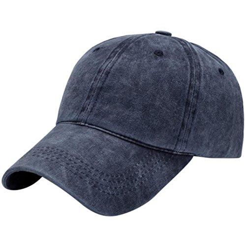 - Mens Casual Cotton Adjustable Letter Baseball Cap Outdoors Visor Polo Golf Sun Hat (Navy)