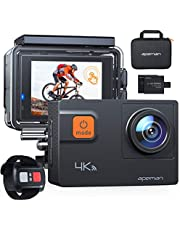 APEMAN Action Camera A87,Ultra 4K 60FPS WiFi 20MP HD Underwater Waterproof 40M Sports Camcorder with 170 Degree EIS Advanced Sensor, 2 Upgraded Batteries, Portable Carrying Bag and 24 Mounting Accessories Kits